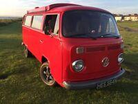 VW T2 Camper Poptop 1975