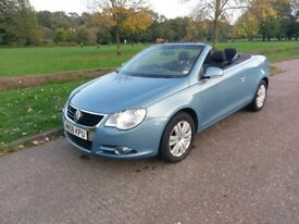 VW Eos 2 L Manual, Hard Top Convertible 2008 blue 84,000 miles 11 months mot PRICED TO SELL!