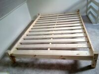Pine Double bed frame - unused