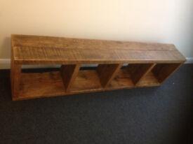 book shelve industrial reclaimed rustic wood