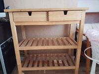 Slod wood ikea kitchen storage trolley