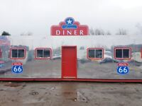 Stunning American diner created from 40ft shipping container 24 seater