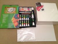 Reeves Acrylic Colour Complete Painting Set with 3 box canvases