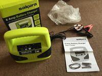 Sakura 6 Amp Car or Motorbike Battery Charger