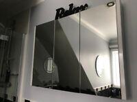 Triple door bathroom cabinet