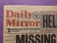 Birthday gift – an original newspaper from 26th October 1956