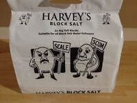 10x Packs of Harvey's Water Softener Block Salt - 2x 4kg blocks in each pack