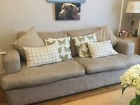 Three piece Sofa Workshop. Large sofa bed, love seat and footstool.