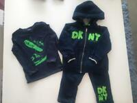 DKNY track suit and t shirt