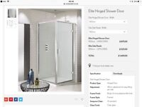 Crosswater Elite 900mm Hinged Shower Door and matching Side panel Chrome