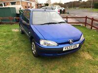 Peugeot 106 2001 MOT October 2017 3door72k blue 07881297815