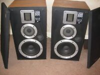 two Warfdale Laser 200 vintage speakers £40