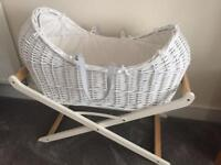Moses basket white wicker