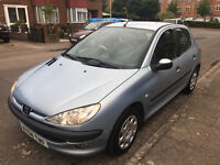 Peugeot 206 1.4 Diesel, MOT Till July 2018, 5 Doors, Very Economical, £30 Road Tax, Cheap Insurance