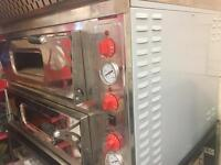 Double deck electric oven