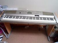 YAMAHA DGX-500 Portable Grand Piano with Wooden Stand
