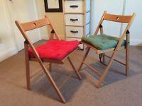 Ikea folding chairs x2 (cushions included)