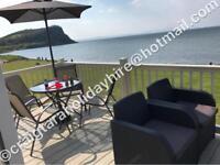 *BEACHFRONT full sea view*••2018 dates••3 bedroom platinum caravan for hire at craig tara
