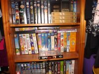 TV built in video recorder/player good working order pine bookcase kids videos free for uplift
