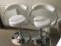 2 White Kitchen Chairs