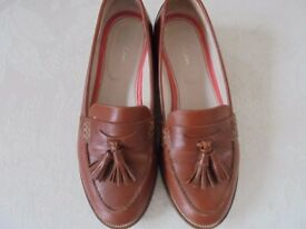 Boden Tan Leather Loafers Size 39
