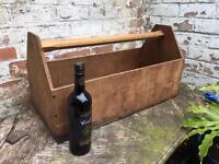 Huge fantastic vintage open top tool box, ideal for garden planter or wine storage