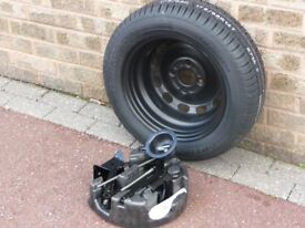 Spare wheel and tyre. Ford Fiesta 2008 onwards. 175/65 R14. With jack and wheel fitting kit.