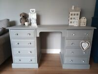 Stunning Solid Chunky Painted Pine Desk Dressing Table