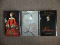 Never read. Tudor History Books, Elizabeth, and Mary Queen of Scots. Excellent condition