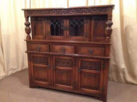 Old Charm Court Cupboard / Wall Unit / Dresser