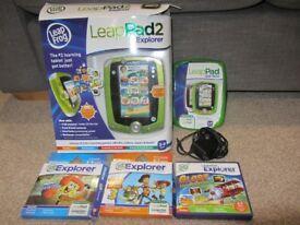 Leapfrog LeapPad 2 plus games - green