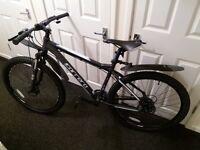 "mans 18"" frame carrera vageance mountain bike"