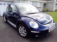 VW BEETLE 2007 1.6 LUNA blue met. FSH. MOT. VGC . GARAGED!!