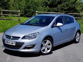 2014 64 Vauxhall Astra 1.4 16v SRi Turbo, One Owner, VerY Low Mileage, Vauxhall Warranty, FSH