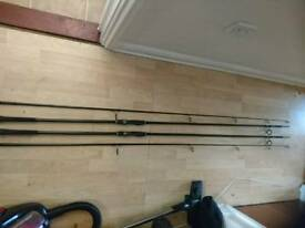Greys prodigy 12ft 3lb tc carp rods