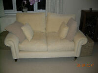 Laura Ashley Cream/Beige 2 Seater Sofa