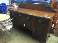 LARGE VICTORIAN SIDEBOARD (DELIVERY AVAILABLE)