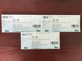 The The - 3 tickets for Leeds Beckett Student Union show Sunday May 27th - Face value