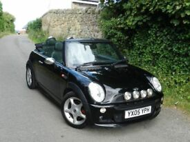 2005 MINI COOPER CONVERTIBLE 1.6 + FULL SERVICE HISTORY + ALLOYS + 12 MONTHS MOT