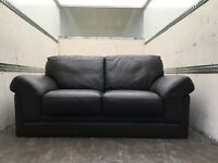 High grade brown leather 2 and 3 seater sofa