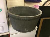 Plastic garden barrel