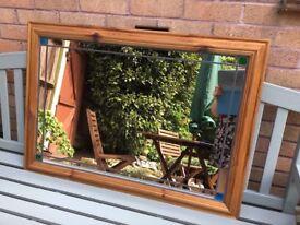 Beautiful wooden framed decorative mirror