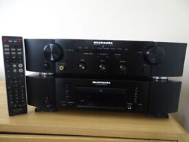 MARANTZ SEPARATES STEREO AMPLIFIER and CD PLAYER and MONITOR AUDIO FLOOR SPEAKERS.