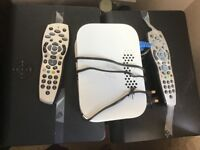 sky boxes + HD and remote controllers and internet boxes.