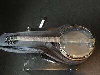DEAN 6 String Banjo in ROAD RUNNER Soft Case