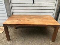 Solid Oak wood Veneer Table