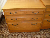 House clearance! 2 Chest of Drawers/ Bedside Tables/ Tall Boy.