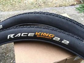 Pair Continental Race King 2.2 tyres
