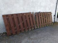 Large wooden solid driveway gates