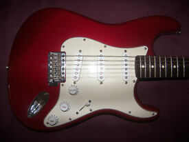 Fender Stratocaster Mexico , Mexican , MIM , Electric Guitar 2009. / Red Metallic.